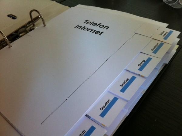 Ordner Register selbst gemacht | Sandro Würmli's Blog
